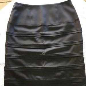 CALVIN KLEIN Black Tiered Bodycon Bandage Skirt M